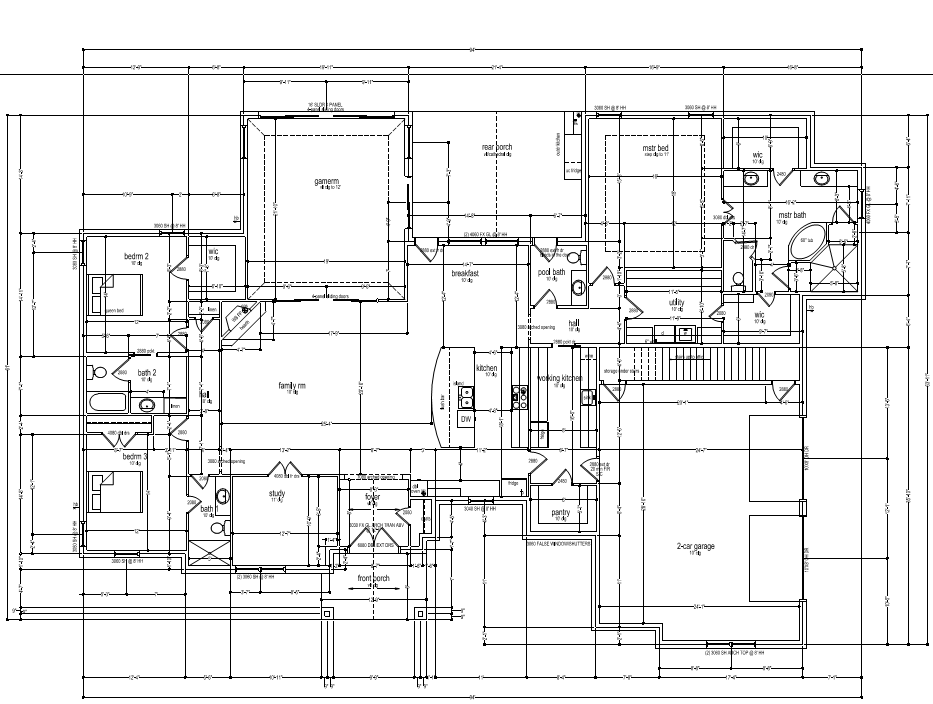 Is your plan missing a joist and beam or roof layout?